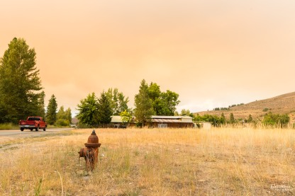 Summer Wildfires near Winthrop, Washington, USA